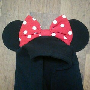 Disney Parks Tops - Disney Parks Minnie Mouse Hoodie w/ Ears
